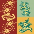 Classic flower pattern - Stock Vector