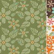 Retro Seamless floral background — Stok Vektör