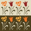 Set of floral vector elements, lily — Vektorgrafik