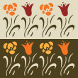 Set of floral vector elements, lily — Stock Vector
