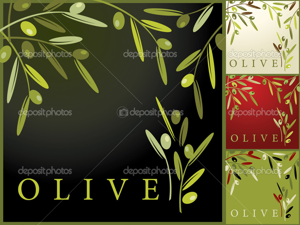 Vector illustration - olive pattern — Stock Vector #2320250