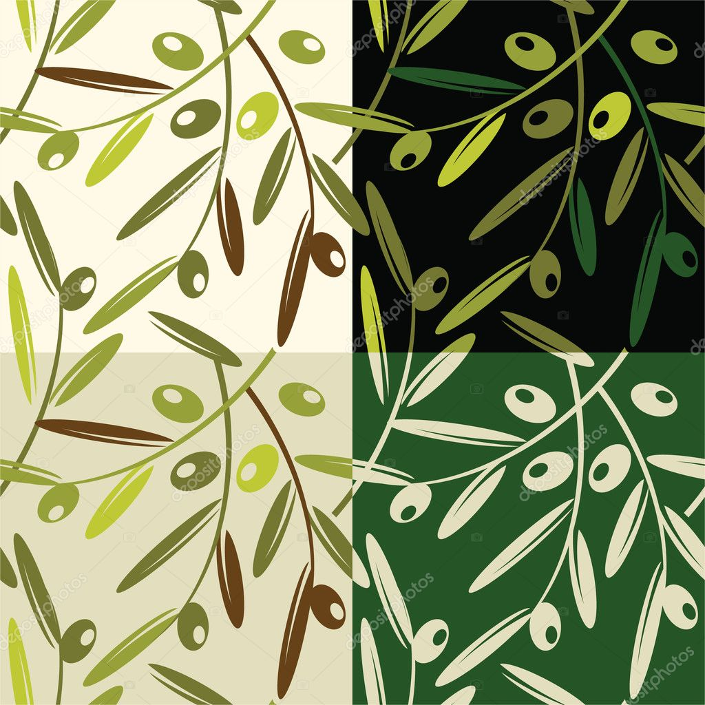 Vector illustration - olive pattern — Stock Vector #2320350