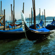 gondeln in venedig — Stockfoto