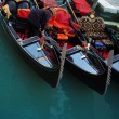 Gondolier and gondolas, Venice — Stock Photo #2366522