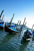 Гондолы в Венеции — Стоковое фото