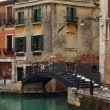 Stockfoto: Bridge over the canal in Venice, Italy