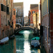 Bridge over the canal in Venice, Italy — Stock Photo
