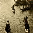Photo: Retro photo of gondola rides in Venice