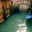 Romantic restaurant in Venice — 图库照片