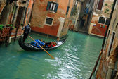 Gondola ride in Venice, Italy — Stock Photo