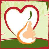 Fruit fresh pear — Stock Vector