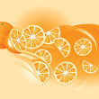 Orange fruit — Stockvectorbeeld