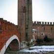 Scaligero Bridge, Verona, Italy - Stock Photo