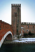 Scaligero Bridge, Verona, Italy — Stock Photo