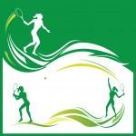 Woman tennis — Stock Vector #2608399