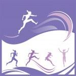 Woman race — Stock Vector