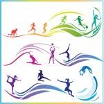 Sport skills — Stock Vector