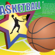 Royalty-Free Stock Vector Image: Basketball background