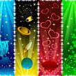 Royalty-Free Stock Векторное изображение: Vertical banners with stars