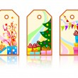 Cartoon xmas labels — Stock Vector