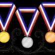Stock Vector: Medals-6