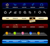 Web navigation templates — Stock Vector