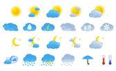 Hava durumu simgeleri. — Stok Vektör