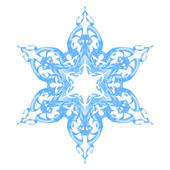 Blue ornate snowflake — Stock Vector