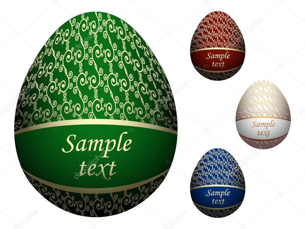 Ornate Easter eggs. Vector illustration  Vettoriali Stock  #2120977