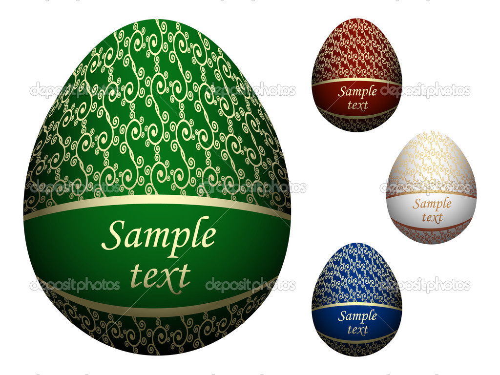 Ornate Easter eggs. Vector illustration — Imagen vectorial #2120977