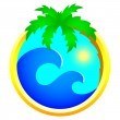 Tourism and holidays icon — ストックベクター #2135511