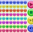 Color buttons for player — Stock Vector