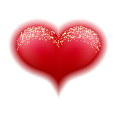 Cuore rosso — Vettoriale Stock