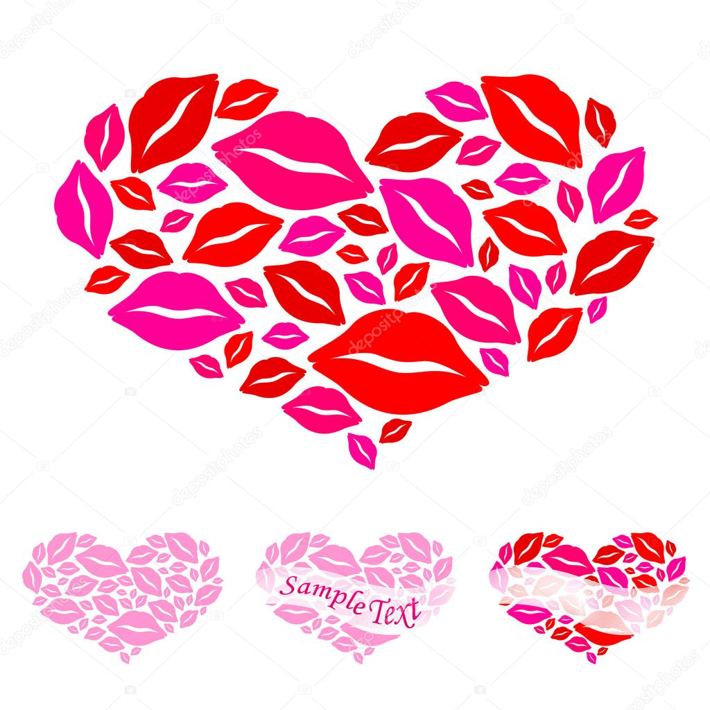 Hearts for Valentine's Day. Vector — Vettoriali Stock  #2135073