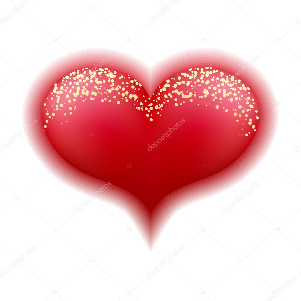 Red heart isolated on white — Stock Vector #2135169