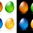 Decorative Easter eggs — Imagen vectorial