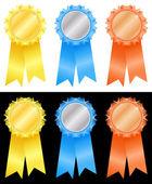 Winner's rosettes — Stock Vector