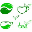 Stylized tea icons — Stock Vector