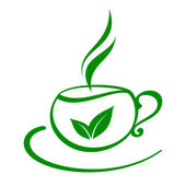 Estilizado xícara de chá — Vetor de Stock