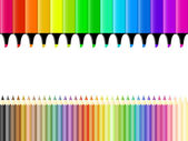 Crayons and markers — Stock Vector