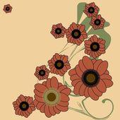 Абстрактный цветочный узор — Cтоковый вектор