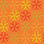 Бесшовный абстрактный цветочный узор — Cтоковый вектор
