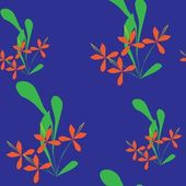 Seamless abstract floral pattern — Stock vektor