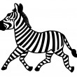 Stock Vector: Zebra