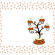 Cofee cups tree 2. — Stock Vector
