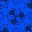 Abstract blue seamless pattern. — Imagen vectorial