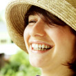 Portrait of the young laughing girl — Stock Photo