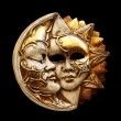 Stock Photo: Mask, Moon and sun