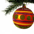 Decoration; christmas; holiday; ball; — Foto de Stock