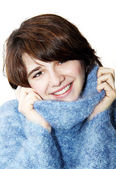 The girl in a fluffy sweater 5 — Stock Photo